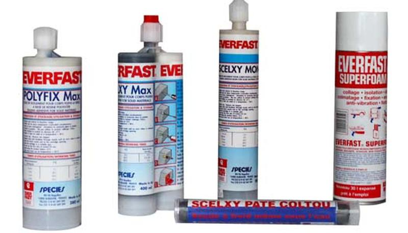 Colle epoxy b ton acier m taux bois adhoxy everfast for Colle epoxy carrelage
